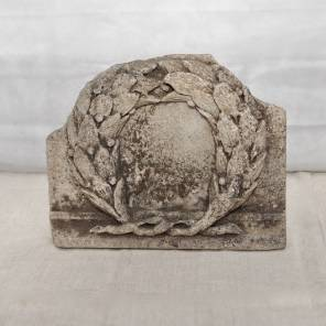 A French 18th century Neo-Classical Carved Stone Laurel Wreath