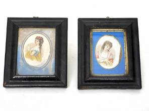 A Pair of 19th Century French Watercolours