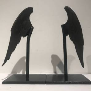 A Decorative Pair of Bronze Angel Wings