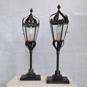 A Pair of Venetian Procession Lanterns Converted to Lamps