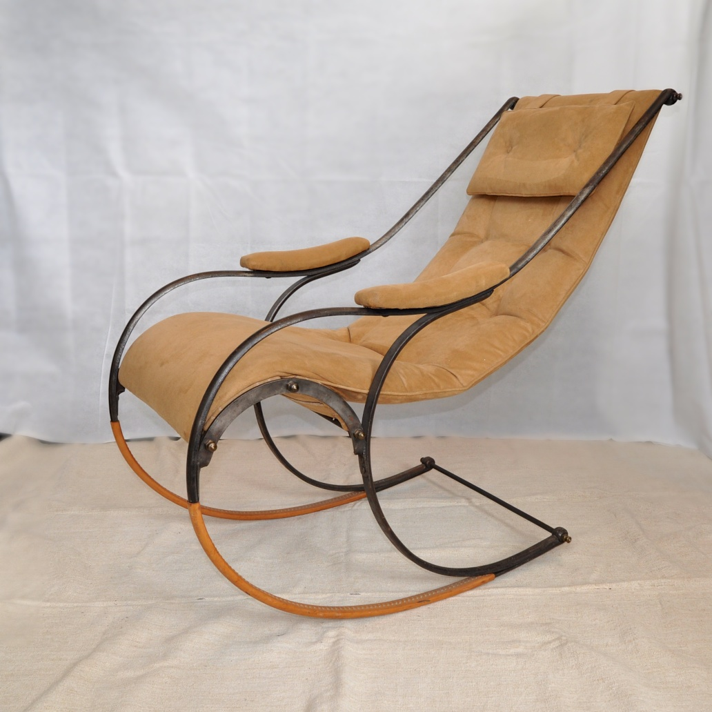 A English Metal Rocking Chair Designed By R. W. Winfield