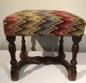 Early 18th Century French Fruitwood Stool
