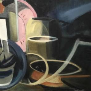 Still life, Oil on Canvas by Guy Worsdell c. 1950